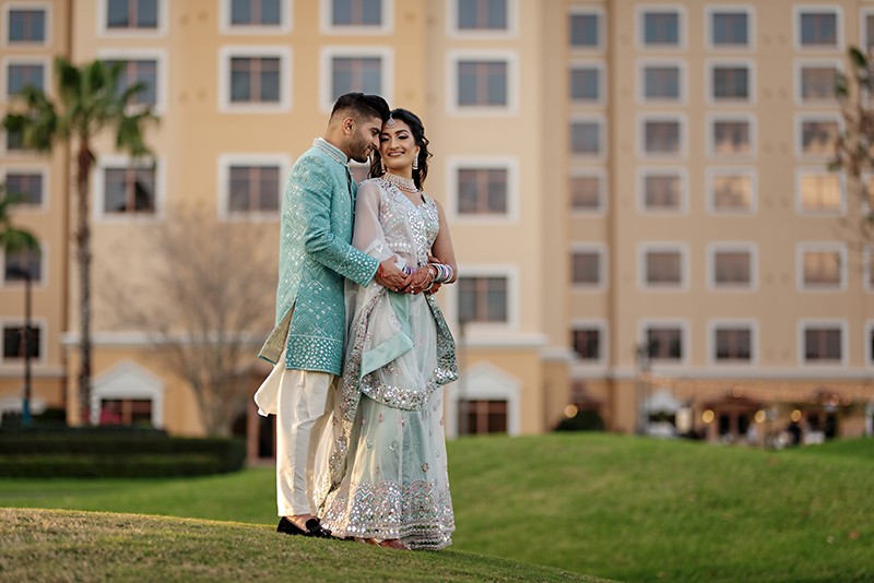 First look of Indian Bride and Groom