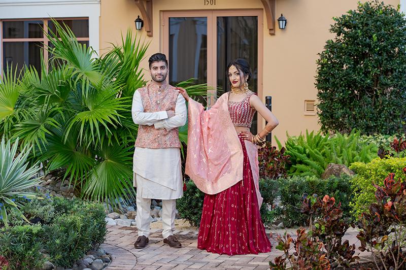 Indian couple portrait photography