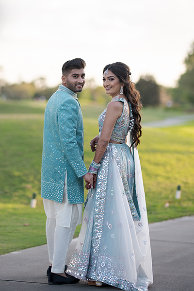 Wedding Outfit of Indian Couple