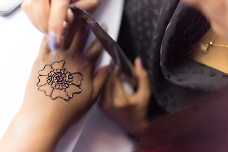 Henna Artist Applying mehndi