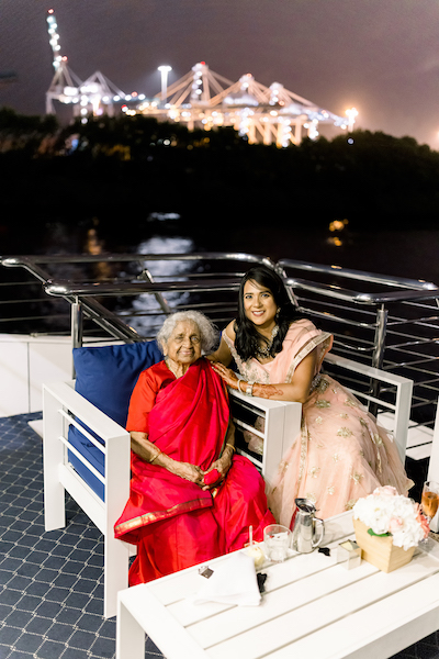 Bride posing with grand mother