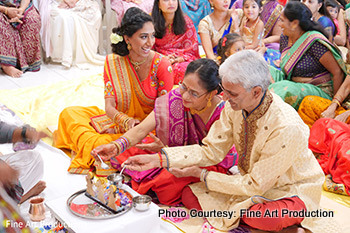 Couple's Parents Doing Grah Shanti Pooja