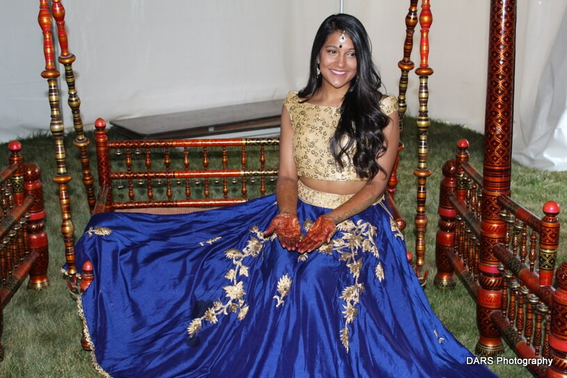Indian Bride Posing Outdoors