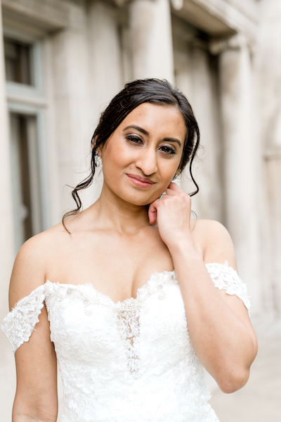 Perfect Indian wedding Bride in white gown