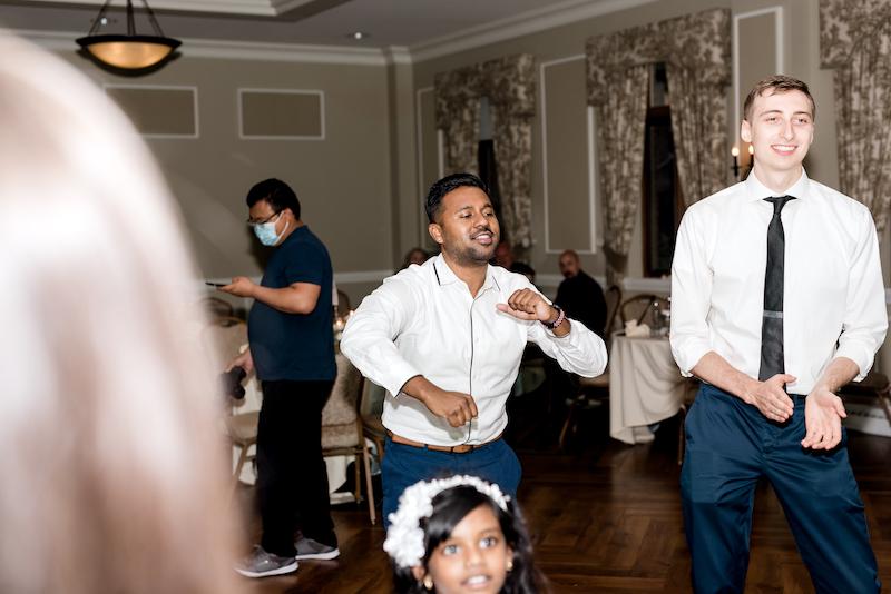 Guest enjyoing dance party