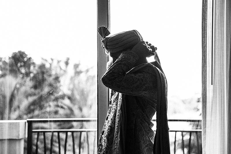 Indian Groom wearing turban for wedding day