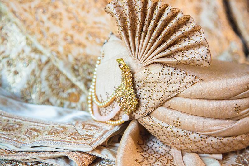 Wedding turban of Indian Groom