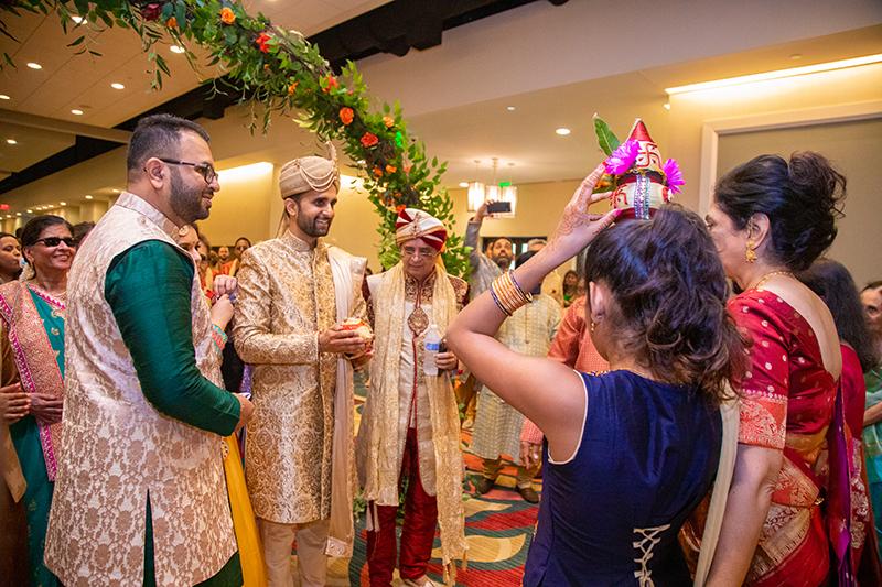 Indian Groom Entering the Wedding venue