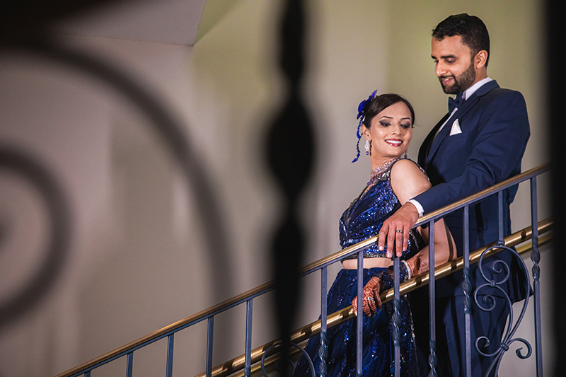 Indian Couple posing at reception