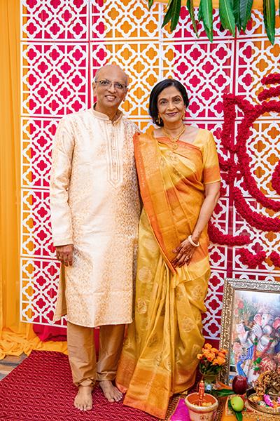 Bride's Parents Posing