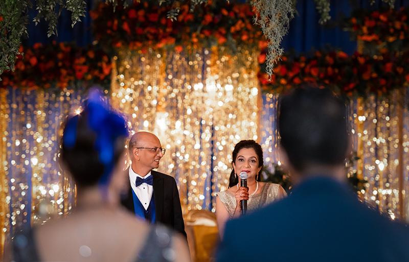Parents giving reception speech
