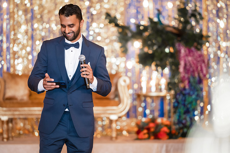 Indian Groom Giving reception Speech