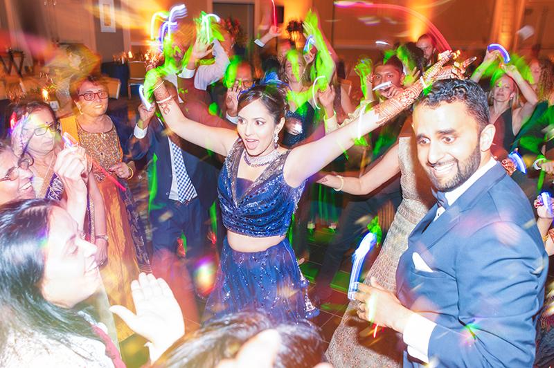 Wedding reception DJ dance