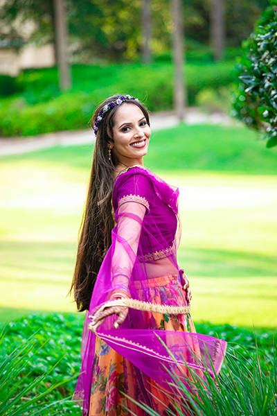 Gorgeous click of Indian Bride Outdoors