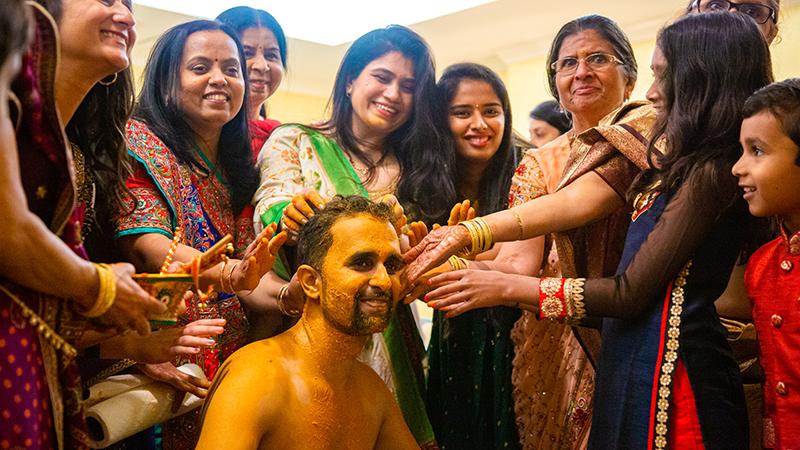 Indian Groom Haldi Ceremony