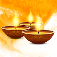 Cultural Happy Diwali festival celebration background vector