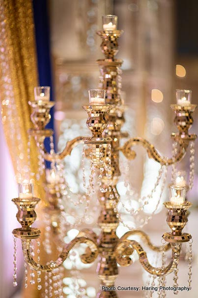 Beautiful Decor of candles in Indian Wedding