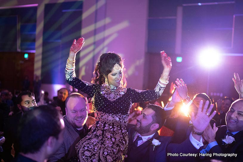 Indian Bride dancing on her big day