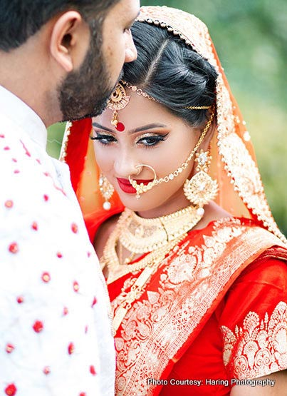 Indian Groom Kissing On the forehead