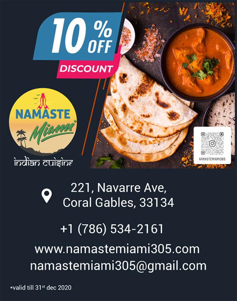 Namaste Miami Indian Cuisine