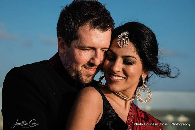 Gorgeous Couple Posing outdoors clicked by Cossu Photography