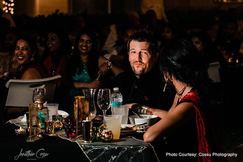 Groom looking in Indian Bride's Eyes