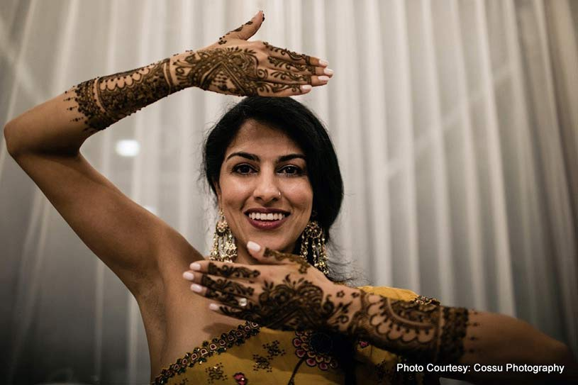 Indian Bride at mehndi ceremony