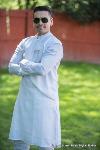 Indian Groom Possing for Photoshoot