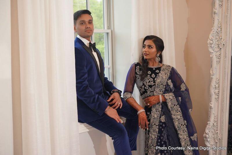 Stunning photo of Indian bride and groom taken by Naina Digital Studio