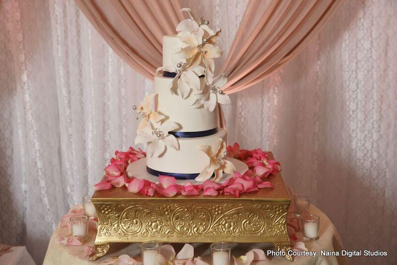 Delicious Indian Wedding cake by Chocal8Kiss Bakery