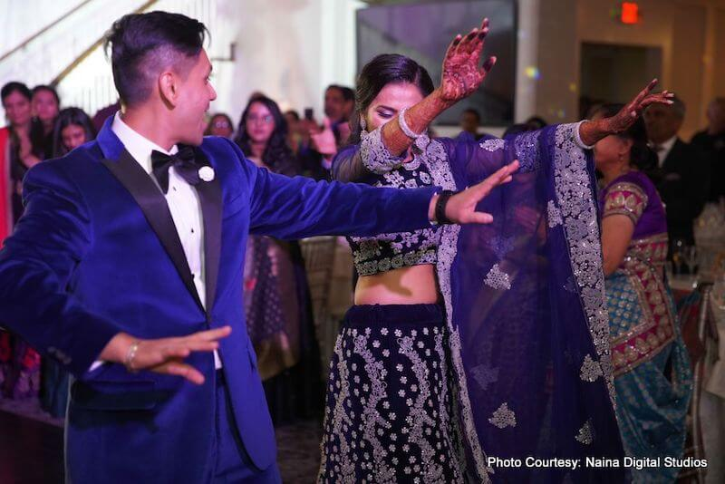 Indian Groom About to Dance with Bride to be