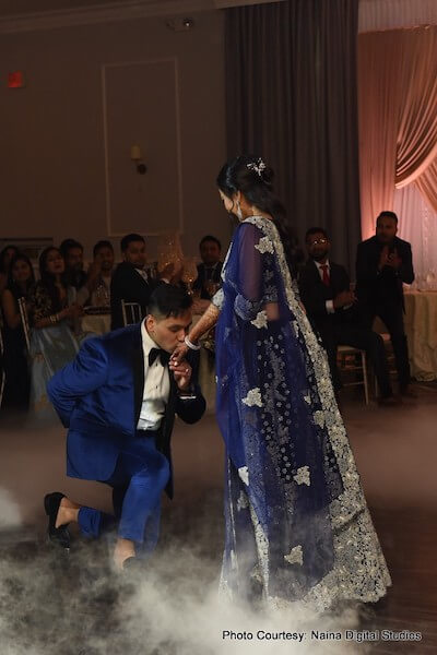Indian Groom Kissing to Indian Bride's Hand