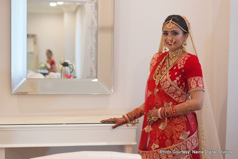 Indian Bride Possing for Photoshoot