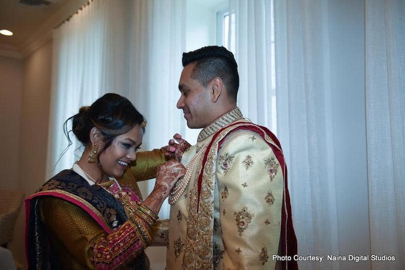 Indian Groom Getting ready for wedding