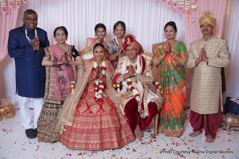 Indian Couple with their family capture