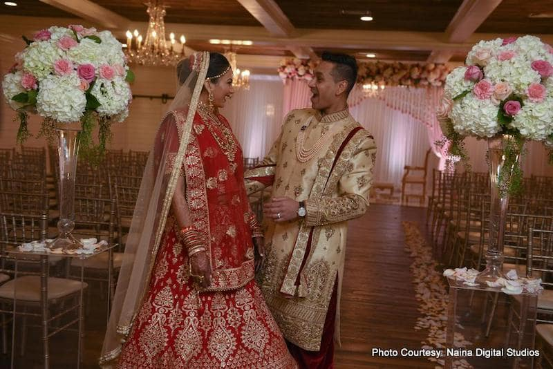 Glamorous Indian Bride and groom just married