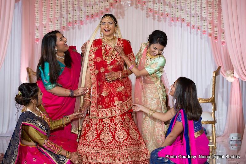 Indian Bride with Bridemaids capture