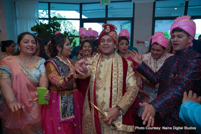 Indian Groom with guest capture