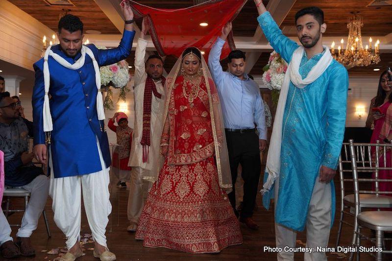 Indian Bride Entering for her wedding