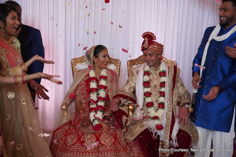 Happy moment for sweet couple