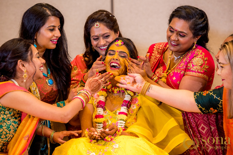 Haldi Ceremony at Indian Wedding