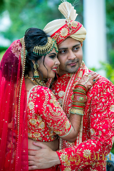 Indian Couple posing Outdoors