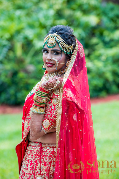 Indian Bride Looking Gorgeous in Red Gown