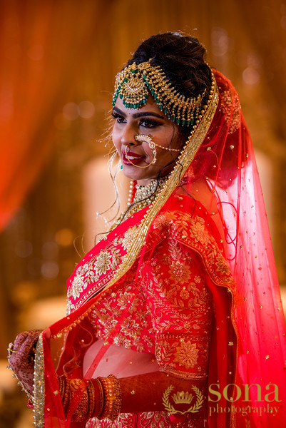 Lovely Indian Wedding bride's Gown