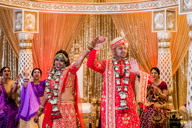 Indian just married couple