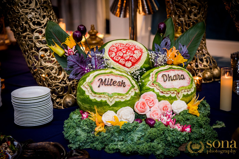 Wedding decor at the Food counter