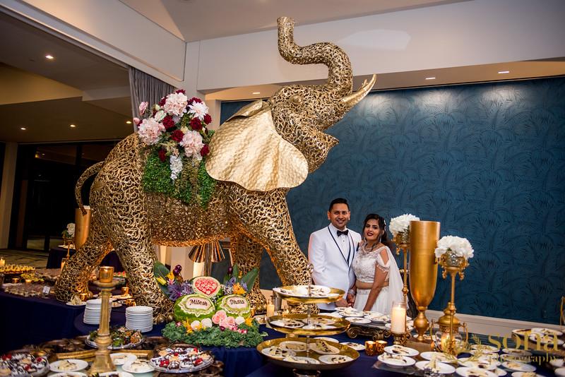 Amazing food display at Indian Wedding